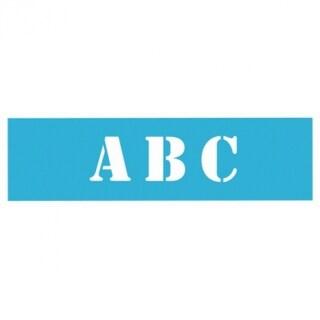"Americana AS109-K Laser Cut 5"" Stencil Font Alphabet, 6"" x 18"", 7-Sheets"