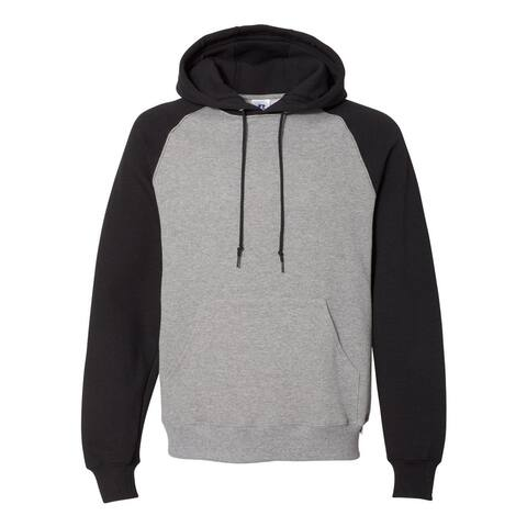 Dri Power® Colorblock Raglan Hooded Sweatshirt