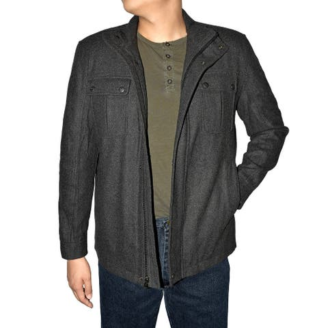Victory Outfitters Men's Wool Blend Stand Up Collar Jacket