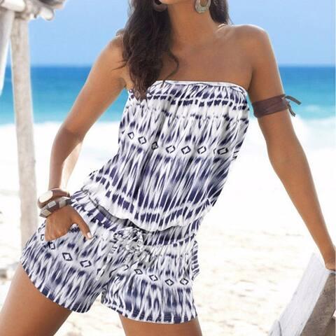 Women's Mini Wrapped Beach Jumpsuit