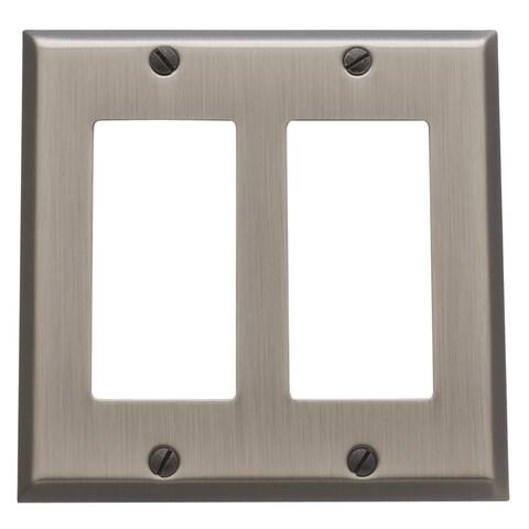 Baldwin 4741 Beveled Edge Double Rocker/GFCI Solid Brass Switch plate - N/A