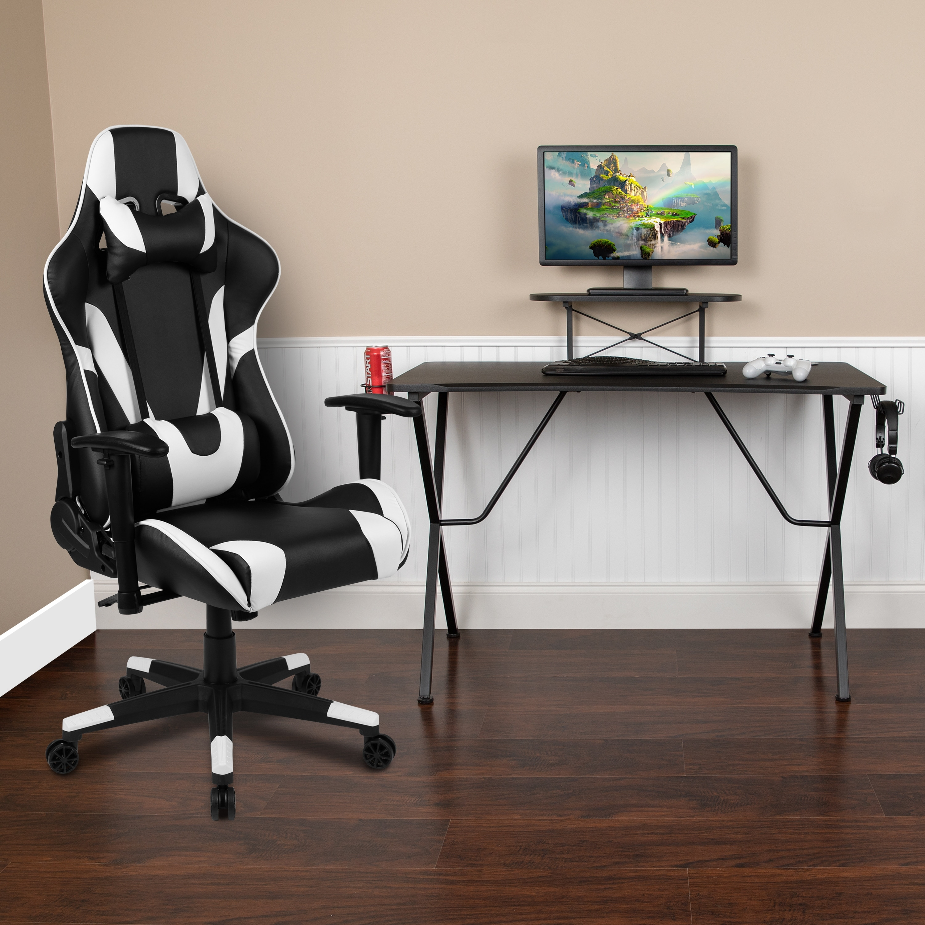 Image of: Shop Gaming Desk Chair Set Overstock 31247625