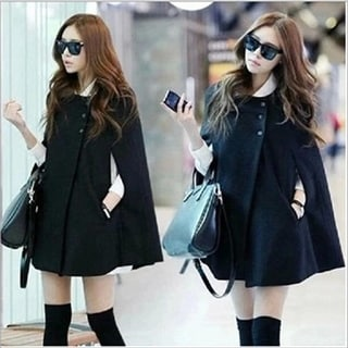 Link to Woolen Cloak Coat Women's  Shawl Coat Similar Items in Women's Outerwear