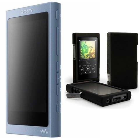 Sony 16GB Walkman with High-Resolution Audio (Blue) & Case Bundle
