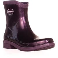 Havaianas Mid Metallic Rain Boots, Aubergine Metallic - 8 us / 40 eu