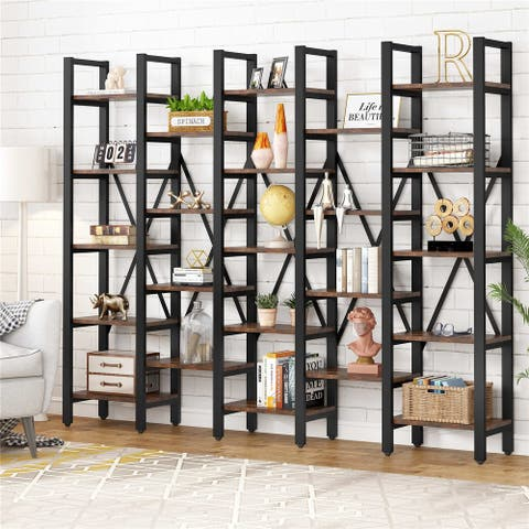 86 Inch Open Bookshelves, 5-Tier Bookcase with 23 Shelves