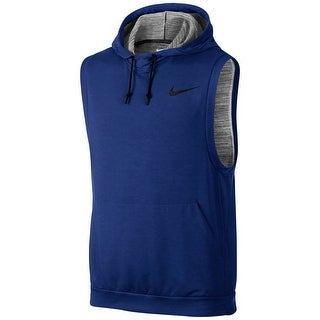 Nike NEW Royal Blue Mens Size Large L Vest Hooded Drawstring Sweater