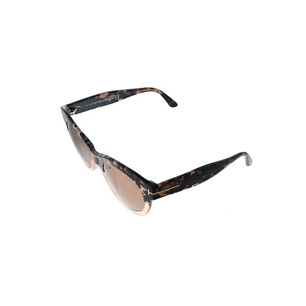 Tom Ford Lou TF 741 55E 53mm Womens Havana Frame Red Lens Sunglasses. Opens flyout.