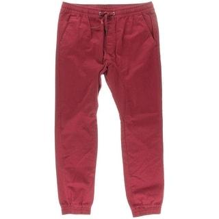 South Pole Mens Cotton Banded Bottom Jogger Pants - XL