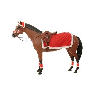 Gift Corral Riding Set Christmas Hat Sheet Leg Wraps Bridle
