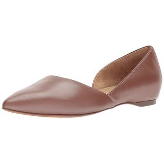 Naturalizer Womens Samantha Leather Pointed Toe Ballet Flats