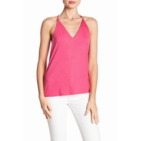 Trina Turk Pink Women's Size Medium M V-Neck T-Back Tank Cami Top