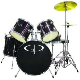 """GP Percussion """"Player"""" 5 Piece Full Size Drum Set"""