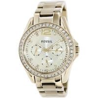 Fossil Women's Riley  Gold Tone Stainles-Steel Fashion Watch