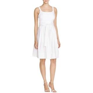 Calvin Klein Womens Casual Dress Pleated Empire Waist