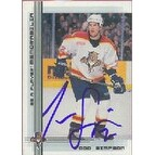 Todd Simpson Florida Panthers 2000 In The Game Be A Player Autographed Card This item comes with a