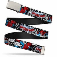 Marvel Comics blank Chrome  Buckle Spider Man In Action2 W Amazing Web Belt - S