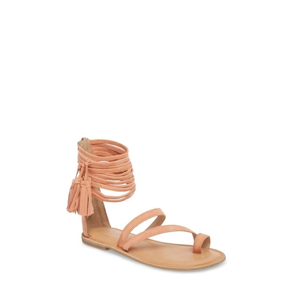 d6be08385da2 Jeffrey Campbell Womens Glady Leather Open Toe Casual Ankle Strap Sandals -  8