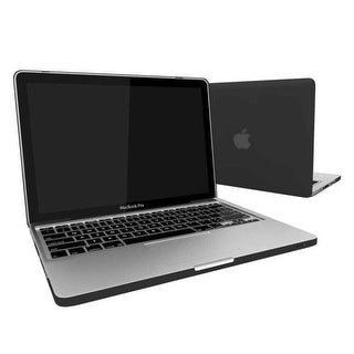 MacBook Cases 11 Inch, Rubberized Hard Cover with Keyboard Skin for Macbook Air 11 (A1370 / A1465) - Black