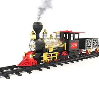 Mota Classic Toy Train With Sounds,Lights And Real Smoke