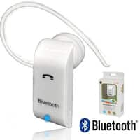 Indigi® BT300 Universal Bluetooth Wireless Handsfree Headset for iPhone Android WatchPhone Tablets and PDAs (White)