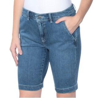 Womens Blue Bermuda Short Petites Size 2