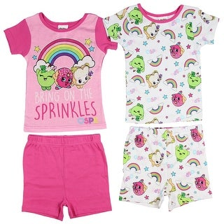 Shopkins Girls' Cotton 4-Piece Pajama Set