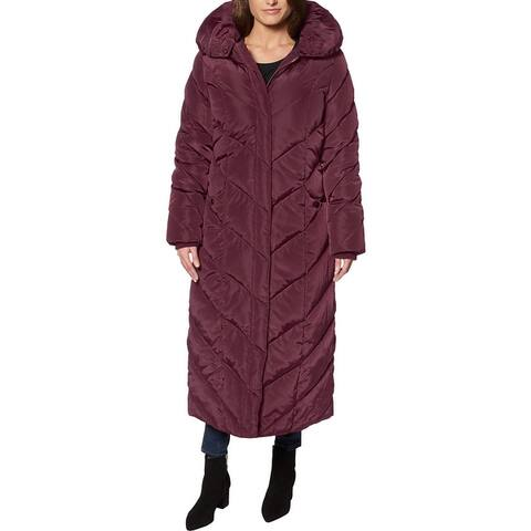 Steve Madden Long Puffer Coat for Women- Fleece Lined Warm Winter Maxi Coat
