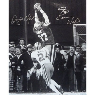 Dwight Clark Everson Walls Autographed San Francisco 49ers 16x20 Photo The Catch JSA