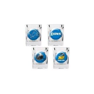 Great American Products Detroit Lions Shot Glass Set 4pc Collectors Shot Glass Set