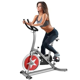Costway Bicycle Cycling Exercise Bike Adjustable Gym Fitness Cardio Workout Home Indoor - Black