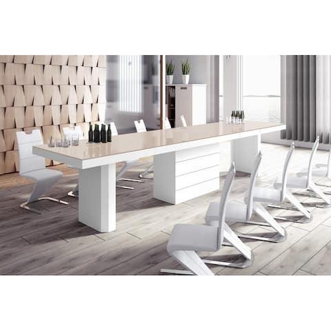 VOLOS Extendable High-gloss Modern Dining Table