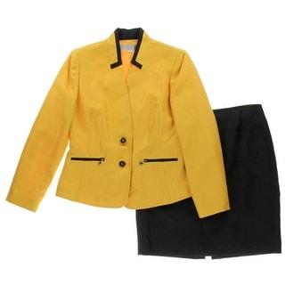 Tahari ASL Womens Petites Jessie Textured 2PC Skirt Suit - 8P