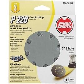 "Shop Smith 15Pk 5"" 220G Sand Disc"