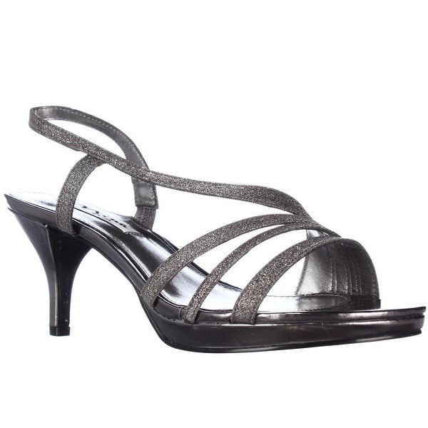Nina Neely Slingback Strappy Dress Sandals, Charcoal Glitter