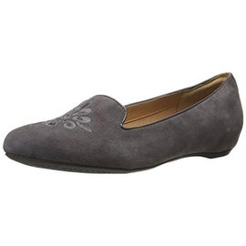 Clarks Womens Alitay Kallen Suede Round Toe Smoking Loafers - 11 medium (b,m)