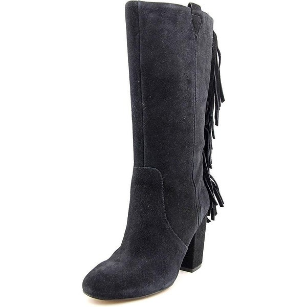 Nine West Womens Jayden Leather Closed Toe Mid-Calf Cowboy Boots