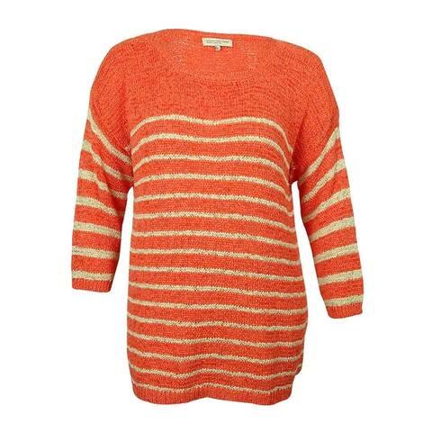 Jones New York Women's Crochet Crew-Neck Sweater