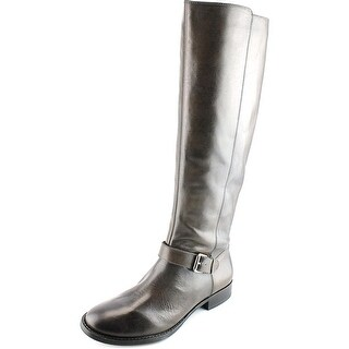 Sole Society Shineh Women Round Toe Leather Brown Knee High Boot