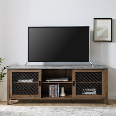 The Gray Barn 70-inch Sliding Mesh Door TV Stand Console