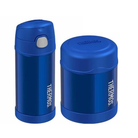 Thermos Funtainer Insulated 12oz Drink Bottle and 10oz Food Jar (Blue)
