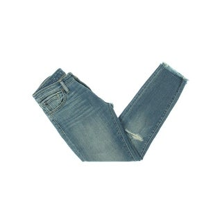Denim & Supply Ralph Lauren Womens Morgan Skinny Jeans Destroyed Cropped