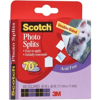 """Scotch Adhesive Squares Double-Sided 850/Pkg-.45""""X.45"""""""