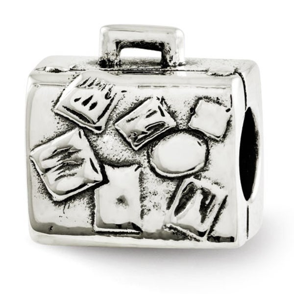 Sterling Silver Reflections Suitcase Bead (4mm Diameter Hole)