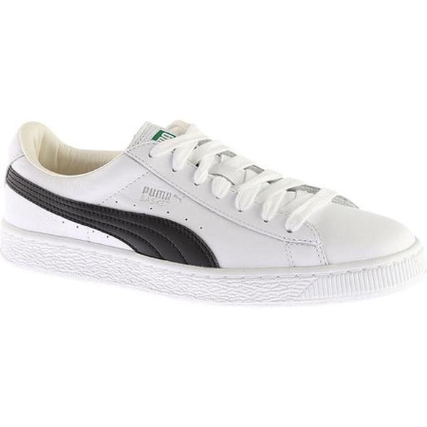 f85b448e9f3a3b Shop PUMA Men s Basket Classic LFS Sneaker White Black - Free ...