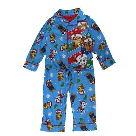 Nickelodeon Little Boys Blue Seasonal Paw Patrol 2Pc Pajama
