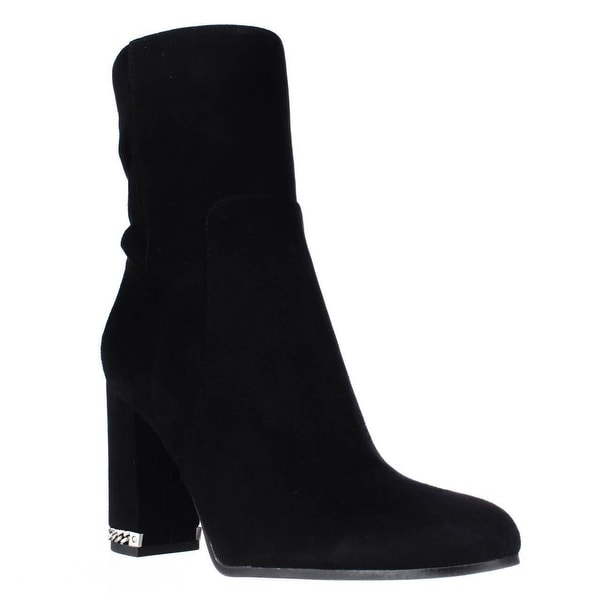 MICHAEL Michael Kors Dolores Back Stretch Mid Calf Booties, Black