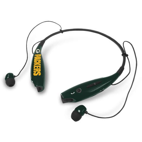 Green Bay Packers Wireless Stereo Headsets with Built-in Microphone