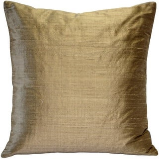 Gold Art Silk Throw Pillow Cover
