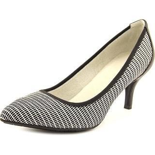 Tahari Toby Women Pointed Toe Synthetic Black Heels